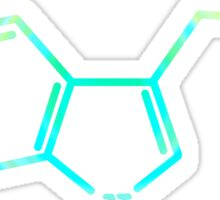 Serotonin - Molecular Structure [RAINBOW] Sticker