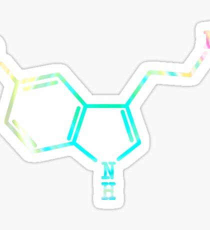 Serotonin - Molecular Structure [RAINBOW] Sticker