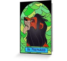 The rightful king? - stained glass villains Greeting Card