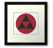 Zelda Black Triforce - Smash Framed Print