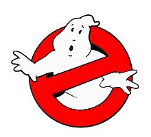 old school logo ghostbuster Photographic Print
