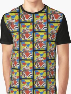 Off with their Heads! - stained glass villains Graphic T-Shirt