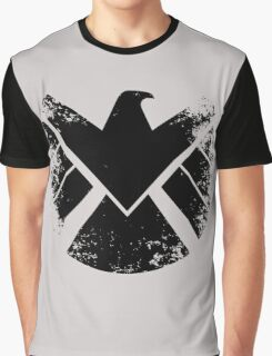 SHIELD Badge - Black Graphic T-Shirt