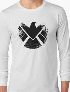 SHIELD Badge - Black Long Sleeve T-Shirt