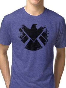 SHIELD Badge - Black Tri-blend T-Shirt