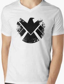 SHIELD Badge - Black Mens V-Neck T-Shirt