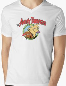 fear Angry Beavers Mens V-Neck T-Shirt
