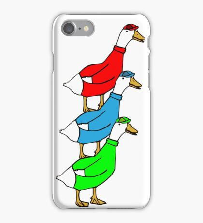 Another Quality Duck Stack- without words! iPhone Case/Skin