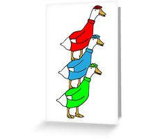 Another Quality Duck Stack- without words! Greeting Card