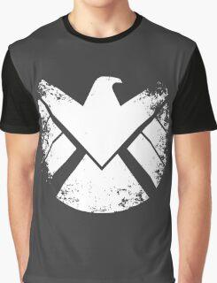 SHIELD Badge - White Graphic T-Shirt