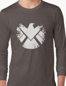 SHIELD Badge - White Long Sleeve T-Shirt