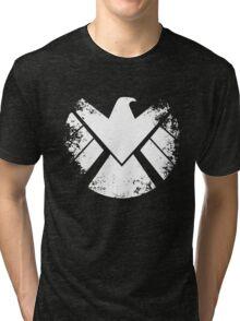 SHIELD Badge - White Tri-blend T-Shirt