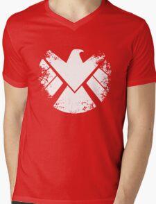 SHIELD Badge - White Mens V-Neck T-Shirt