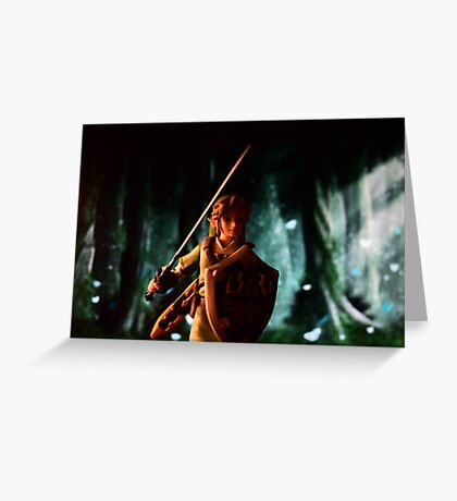 The legend of Zelda: Link to the battle Greeting Card