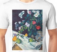 1890 - Paul Cezanne - Still Life with Flowers and Fruit Unisex T-Shirt