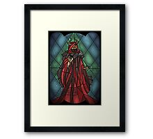 King of the undead - Stained Glass Villains Framed Print