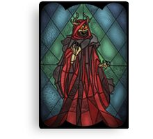 King of the undead - Stained Glass Villains Canvas Print