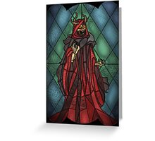King of the undead - Stained Glass Villains Greeting Card