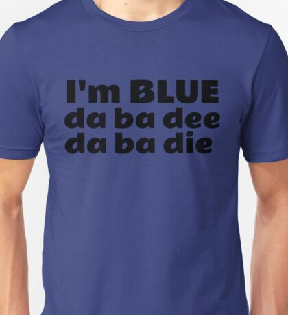 Blue Techno Party Music Dance Unisex T-Shirt
