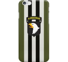 D-Day Stripes with 101st Airborne Patch iPhone Case/Skin