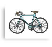 Drawing of a bike (fixed gear) Canvas Print