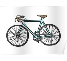 Drawing of a bike (fixed gear) Poster