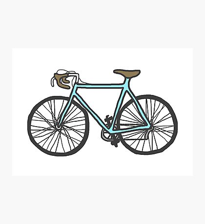 Drawing of a bike (fixed gear) Photographic Print