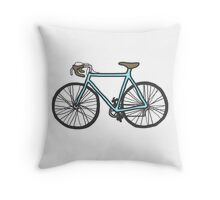 Drawing of a bike (fixed gear) Throw Pillow