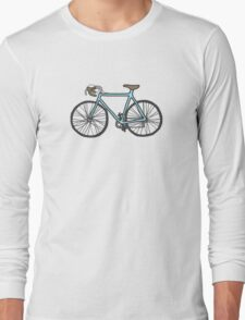 Drawing of a bike (fixed gear) Long Sleeve T-Shirt