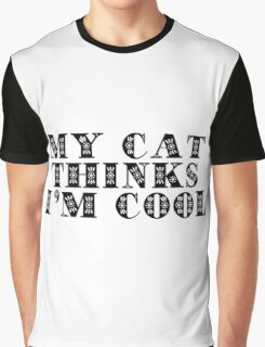I Love Cool Cats Text Graphic T-Shirt