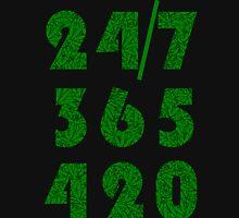 Smoke Weed Everyday 420 Weed Leaf Pattern Unisex T-Shirt