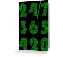 Smoke Weed Everyday 420 Weed Leaf Pattern Greeting Card