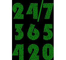 Smoke Weed Everyday 420 Weed Leaf Pattern Photographic Print