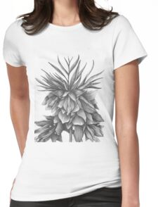 Graphite Fritilaria Womens Fitted T-Shirt