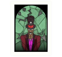 Voodoo Doctor - stained glass villains Art Print