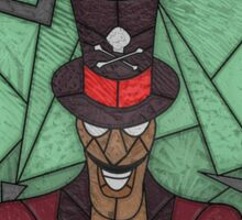 Voodoo Doctor - stained glass villains Sticker