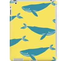 Blue and sperm  whales. iPad Case/Skin