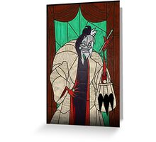 Seeing spots - Stained glass villains Greeting Card