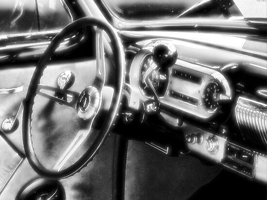 """""""Inside a Classic Chevy""""... prints and products by © Bob Hall"""