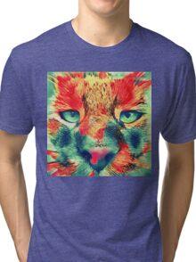 Artificial neural style wild cat Tri-blend T-Shirt