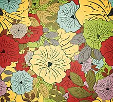 Floral Seamless Grunge Colored Pattern by Olga Altunina