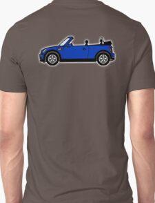 Mini, Cooper, Convertible, BMW, Motor, Car, Soft Top, BLUE T-Shirt