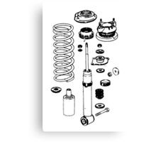 Coilovers exploded diagram collage Canvas Print
