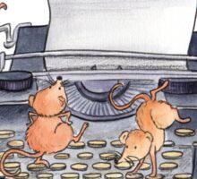 Typewriting Mice Sticker