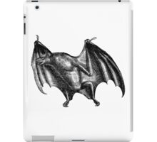 Vintage Vampire Bat Illustration from Retro 1800s Black and White Image iPad Case/Skin