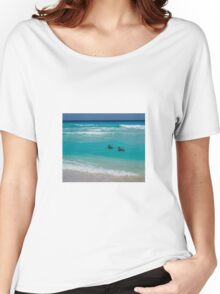 Birds swimming Women's Relaxed Fit T-Shirt
