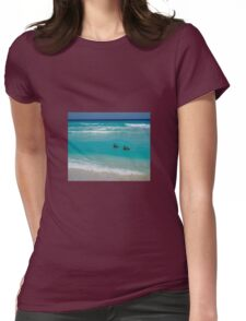 Birds swimming Womens Fitted T-Shirt