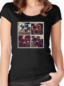 Teenage Mutant Ninja Dog Women's Fitted Scoop T-Shirt