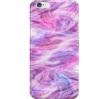 Girly Pink Purple Swirly Abstract Paint Art iPhone Case/Skin
