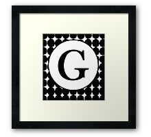 G Bubble Framed Print